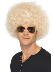 perruque pour homme, perruque pas chère, perruque de déguisement, perruque homme, perruque blonde, perruque afro Perruque Afro Funky, Blonde