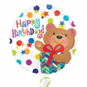 ballon hélium, ballon happy birthday, ballon anniversaire Ballon Aluminium, Happy Birthday Teddy