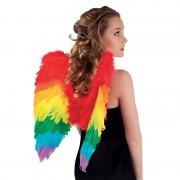 ailes de déguisement, ailes pour se déguiser, ailes d'anges, ailes de perroquet, ailes d'oiseau adultes, ailes plumes multicolores, ailes d'anges multicolores Ailes en Plumes, Multicolores