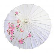 ombrelle chinoise, ombrelle japonaise, ombrelle déguisement, accessoire déguisement asiatique, accessoire geisha déguisement, accessoire déguisement chinoise Ombrelle Japonaise en Papier de riz, Blanche