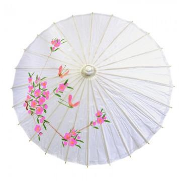 ombrelle japonaise en papier de riz blanche aux feux de la f te paris. Black Bedroom Furniture Sets. Home Design Ideas