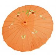 ombrelle chinoise, ombrelle japonaise, ombrelle déguisement, accessoire déguisement asiatique, accessoire geisha déguisement, accessoire déguisement chinoise Ombrelle Japonaise en Tissu, Orange