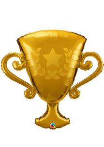 ballon à l'hélium, ballon trophée hélium, ballon coupe champion, ballon coupe du monde, ballon trophée doré, ballon coupe de champion or, Ballon Coupe de Champion, en Aluminium