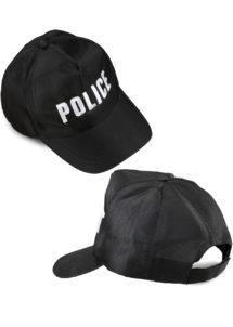 casquette police, accessoires déguisement police, casquette de policier, déguisement policier, casquettes police, Casquette de Police, Brodée