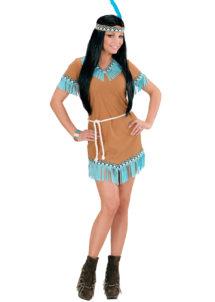 déguisement indienne femme, costume d'indienne femme, Déguisement d'Indienne, Indian Turquoise