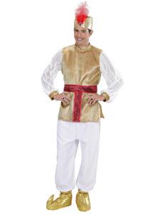 déguisement de sultan oriental, déguisement bollywood, déguisement oriental homme, déguisement oriental adulte, Déguisement de Génie Sultan Oriental