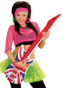 guitare électrique gonflable, guitare déguisement, accessoire rock déguisement, accessoire chanteur déguisement, fausse guitare électrique déguisement, accessoire union jack, accessoire drapeau anglais, Guitare Gonflable, Drapeau Anglais
