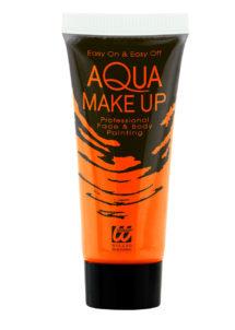maquillage fluo, peinture fluo orange, peinture pour le corps fluo, Peinture Orange Intense, Fluo, Corps et Visage
