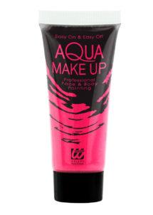 maquillage fluo, peinture fluo rose, peinture pour le corps fluo, Peinture Rose Intense, Fluo, Corps et Visage