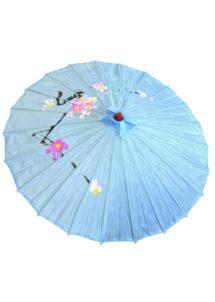 ombrelle chinoise, ombrelle japonaise, ombrelle déguisement, accessoire déguisement asiatique, accessoire geisha déguisement, accessoire déguisement chinoise, Ombrelle Japonaise en Tissu, Bleue