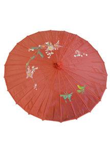 ombrelle chinoise, ombrelle japonaise, ombrelle déguisement, accessoire déguisement asiatique, accessoire geisha déguisement, accessoire déguisement chinoise, Ombrelle Japonaise en Tissu, Rouge
