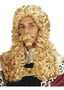perruque pour homme, perruque pas chère, perruque de déguisement, perruque homme, perruque blonde, perruque louis XIV, perruque versailles, perruque de roi, Perruque de Roi, Blonde