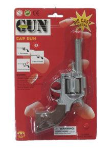 pistolet magnum, réplique revolver, réplique magnum pistolet, pistolet 8 coups, Pistolet Métal 8 Coups, Argent
