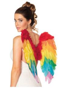 ailes de déguisement, ailes pour se déguiser, ailes d'anges, ailes de perroquet, ailes d'oiseau adultes, ailes plumes multicolores, ailes d'anges multicolores, Ailes en Plumes, Multicolores