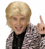 perruque pour homme, perruque pas chère, perruque de déguisement, perruque homme, perruque blonde, perruque disco Perruque Disco Années 80, Wet Look, Blonde