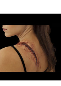 maquillage halloween, fausses blessures halloween, blessures réalistes halloween, maquillage halloween réaliste, blessures halloween réalistes, fausses blessures halloween, effets spéciaux maquillage halloween, blessures cinema secret, maquillage blessure halloween, cicatrice blessure recousue halloween, Blessure FX Woochie, Cicatrice Recousue