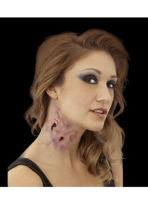 maquillage halloween, fausses blessures halloween, blessures réalistes halloween, maquillage halloween réaliste, blessures halloween réalistes, fausses blessures halloween, effets spéciaux maquillage halloween, blessures cinema secret, maquillage blessure halloween, blessures morsures de vampire halloween, Blessure FX Woochie, Morsure de Vampire