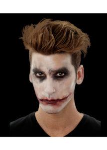 maquillage halloween, fausses blessures halloween, blessures réalistes halloween, maquillage halloween réaliste, blessures halloween réalistes, fausses blessures halloween, effets spéciaux maquillage halloween, blessures cinema secret, maquillage blessure halloween, maquillage du joker halloween,, Blessure FX Woochie, Bouche de Joker