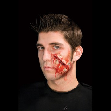 maquillage halloween, fausses blessures halloween, blessures réalistes halloween, maquillage halloween réaliste, blessures halloween réalistes, fausses blessures halloween, effets spéciaux maquillage halloween, blessures cinema secret, maquillage blessure halloween, blessure épingles à nourrice halloween Blessure Cinema Secrets®, FX, Epingles à Nourrice
