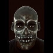 faux crane chauve en latex, faux crâne halloween, faux crâne qualité paris, faux crâne réaliste, faux crâne déguisement, accessoire faux crâne déguisement, accessoire chauve déguisement Faux Crâne en Latex, Noir, Qualité Pro