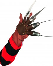 gant de freddy, main de freddy vendredi 13, accessoire déguisement halloween, accessoire vendredi 13 déguisement, accessoire halloween Gant de Freddy Krueger