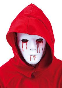 masque blanc larmes sang, masque déguisement, accessoire déguisement masque, masque halloween, accessoire masque déguisement, accessoire déguisement halloween, masques de déguisement, Masque Blanc, Larmes de Sang