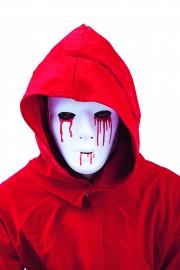 masque blanc larmes sang, masque déguisement, accessoire déguisement masque, masque halloween, accessoire masque déguisement, accessoire déguisement halloween, masques de déguisement Masque Blanc, Larmes de Sang