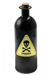 déco halloween, bouteille poison halloween, accessoire décoration halloween, fausse bouteille de poison halloween Bouteille Poison en Verre Noir
