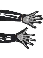 gants squelette, gants squelettes halloween, accessoire halloween, accessoire halloween déguisement, accessoire squelette déguisement Gants de Squelette, Enfant