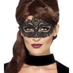 masque en dentelle noire, masque vénitien Loup Dentelle, Noir