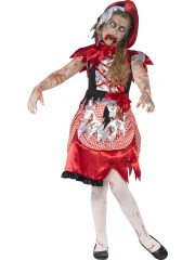 déguisement halloween enfant, déguisement enfant halloween, déguisement zombie enfant, costume halloween enfant, déguisement enfant diable, déguisement fille halloween, déguisement halloween fille, déguisement chaperon rouge zombie enfant Déguisement Chaperon Zombie, Fille