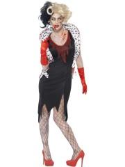 déguisement cruella halloween, costume zombie femme halloween, costume halloween, déguisement zombie adulte, déguisement cruella zombie femme Déguisement Cruella Zombie