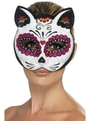 masque de chat mexicain, masque de déguisement, accessoire masque déguisement, accessoire déguisement masque, accessoire halloween masque, masque halloween, masque déguisement halloween, masque jour des morts, masque halloween jour des morts, déguisement halloween jour des morts Loup Chat Mexicain, Jour des Morts