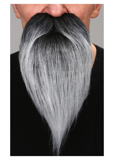 fausse barbe, fausses moustaches, postiche, barbe postiche, fausse barbe réaliste, fausse barbe de déguisement, barbe grise, Barbe, Luxe, Grise Poivre et Sel