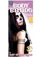 tatouage temporaire, faux tatouage, tatouage mort mexicaine Tatouage Temporaire, Jour des Morts x 2