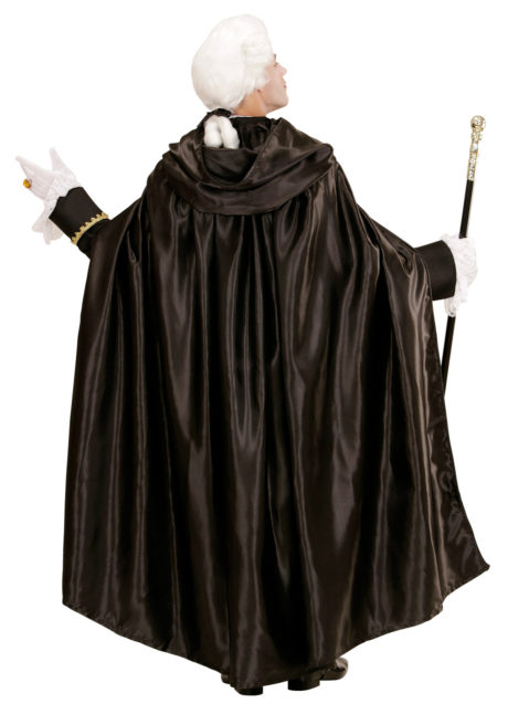 cape noire capuche, cape noire venise, cape vénitienne, cape noire halloween, Cape Noire à Large Capuche, Satin