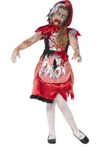 déguisement halloween enfant, déguisement enfant halloween, déguisement zombie enfant, costume halloween enfant, déguisement enfant diable, déguisement fille halloween, déguisement halloween fille, déguisement chaperon rouge zombie enfant, Déguisement Chaperon Zombie, Fille