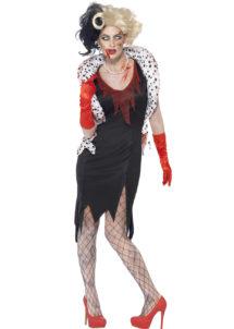 déguisement cruella halloween, costume zombie femme halloween, costume halloween, déguisement zombie adulte, déguisement cruella zombie femme, Déguisement Cruella Zombie