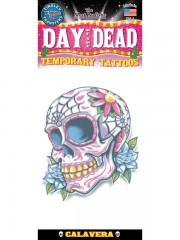 tatouage temporaire, faux tatouage, tatouage tête de mort Tatouage Temporaire, Crâne Jour des Morts