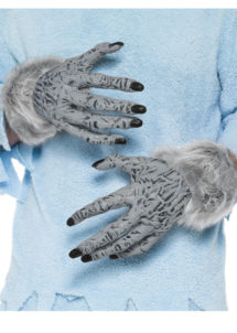 gants de loup, gants de monstre, gants halloween, accessoire halloween déguisement, gants de monstre halloween, gants loup garou halloween, gants déguisement monstre, Gants de Loup ou de Monstre