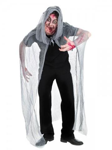cape de zombie halloween, cape halloween, cape halloween adulte, cape déguisement adulte, cape déguisement de zombie, accessoire halloween, déguisement halloween Cape de Zombie à Capuche