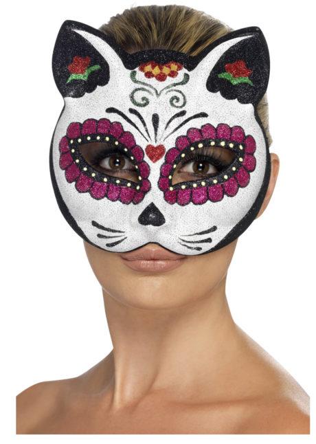 masque de chat mexicain, masque de déguisement, accessoire masque déguisement, accessoire déguisement masque, accessoire halloween masque, masque halloween, masque déguisement halloween, masque jour des morts, masque halloween jour des morts, déguisement halloween jour des morts, Loup Chat Mexicain, Jour des Morts