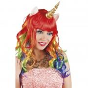 perruque pas chère à paris, perruques femmes, perruques de déguisement, perruque licorne, perruque multicolore Perruque Licorne, Multicolore