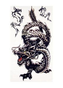 faux tatouage, tatouage temporaire, tatouage dragon, Tatouages Temporaires, Dragon
