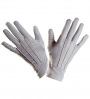 gants gris, gants pour adulte, gants de déguisement, accessoires gants déguisement, gants déguisement, gants homme déguisement Gants Courts, Gris