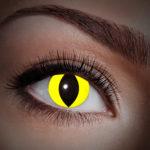 lentilles UV oeil de chat, lentilles fluos, lentilles halloween, lentilles fantaisie, lentilles déguisement, lentilles déguisement halloween, lentilles de couleur, lentilles fete, lentilles de contact déguisement, lentilles fluos jaunes Lentilles Fluos, Oeil de Chat, Jaunes