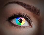 lentilles UV, lentilles arc en ciel, lentilles halloween, lentilles fantaisie, lentilles déguisement, lentilles déguisement halloween, lentilles de couleur, lentilles fete, lentilles de contact déguisement, lentilles fluos Lentilles Fluos, Arc en Ciel