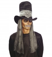 chapeaux halloween, chapeau de vampire, chapeaux hauts de forme, chapeau haut de forme, chapeaux paris, chapeaux hauts de forme Chapeau Haut de Forme Velours, avec Crâne