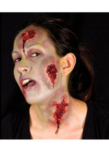 maquillage halloween, fausses blessures halloween, blessures réalistes halloween, maquillage halloween réaliste, blessures halloween réalistes, fausses blessures halloween, effets spéciaux maquillage halloween, blessures cinema secret, maquillage blessure halloween, fx blessure, fausse blessure, plaies suintantes, Blessure FX Woochie, Plaies Suintantes