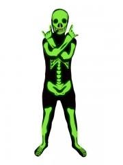 déguisement squelette, morphsuit squelette enfant, déguisement halloween enfant, costume squelette enfant halloween, déguisement squelette enfant Déguisement Second Skin, Squelette Phospho, Garçon